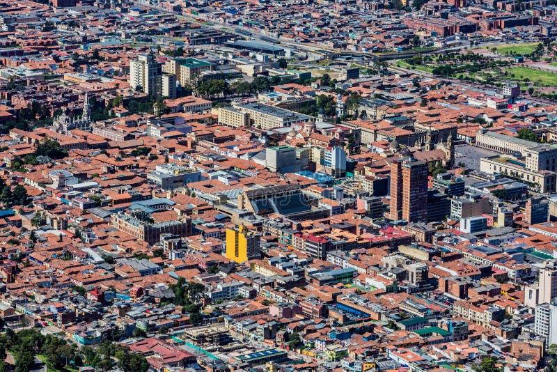 Paysage urbain Colombie d'horizon de Bogota image stock
