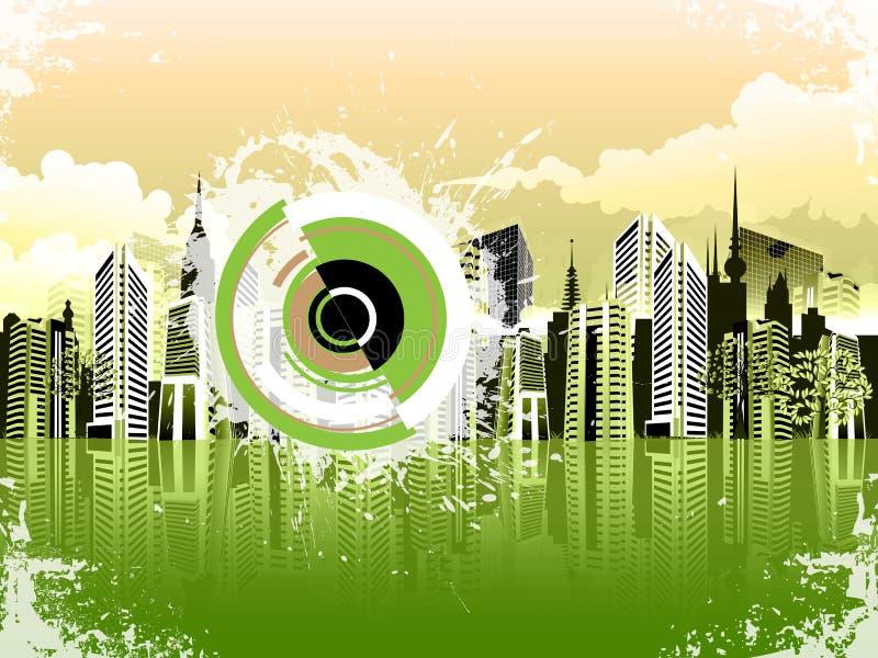 Paysage urbain coloré   illustration de vecteur