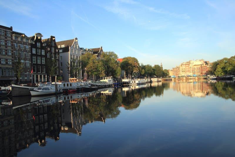 Paysage urbain d'Amsterdam image stock