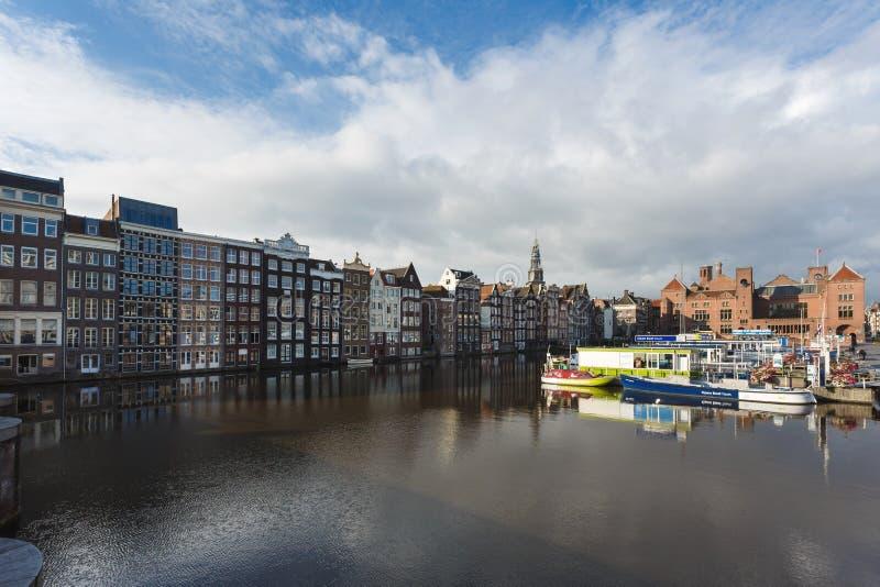 Paysage urbain d'Amsterdam photos libres de droits