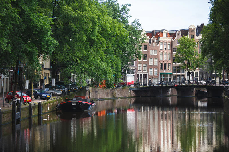 Paysage urbain d'Amsterdam images stock