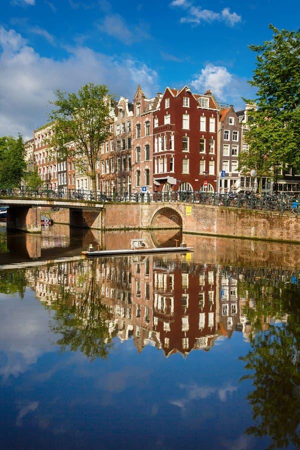 Paysage urbain d'Amsterdam photo stock