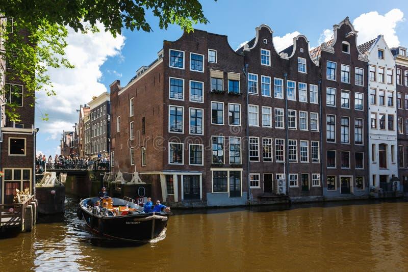 Paysage urbain d'Amsterdam photo libre de droits