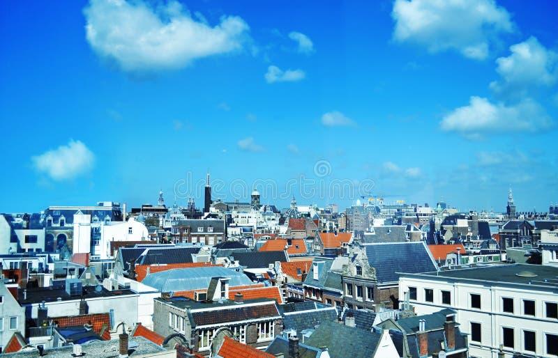Paysage urbain d'Amsterdam Hollande - vue d'en haut images stock