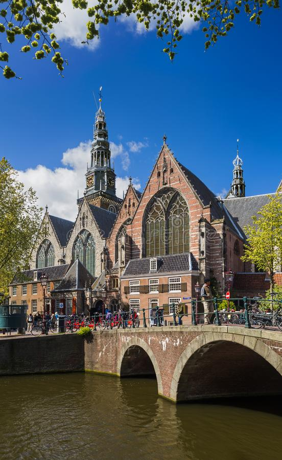 Paysage urbain d'Amsterdam - Pays-Bas photos libres de droits