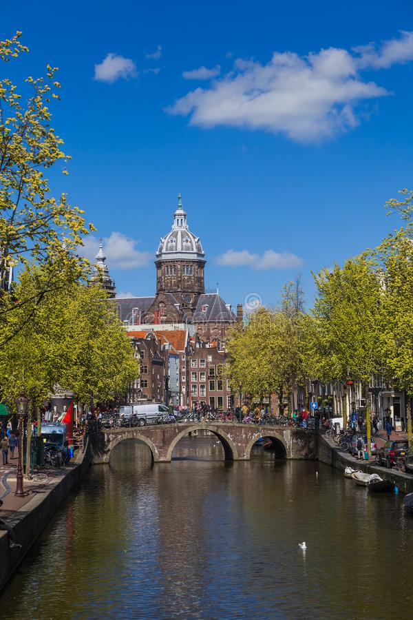 Paysage urbain d'Amsterdam - Pays-Bas photographie stock
