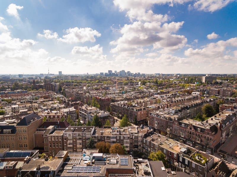 Paysage urbain d'Amsterdam, vue d'en haut images stock