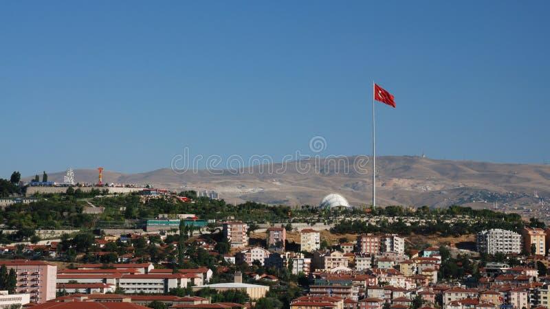 Paysage urbain d'Ankara - cinquantième stationnement d'an photos libres de droits