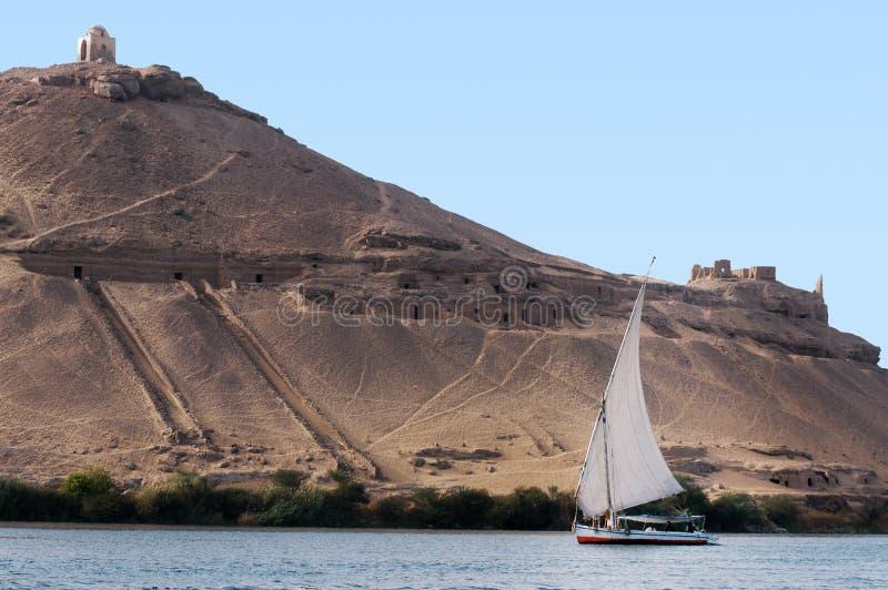 Paysage urbain d'Aswan photo libre de droits