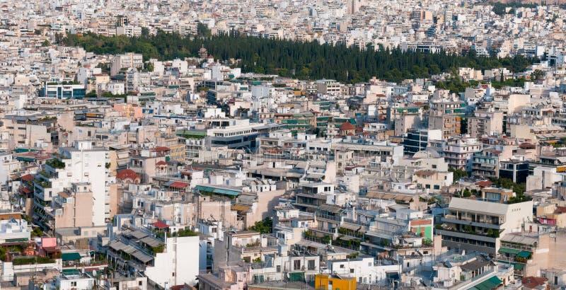 Paysage urbain d'Athènes, Grèce images libres de droits