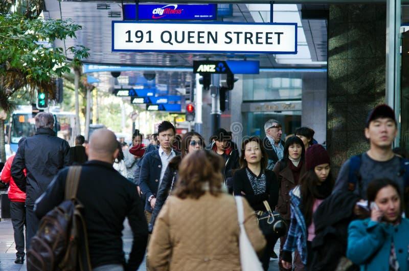 Paysage urbain d'Auckland - rue de la Reine image libre de droits
