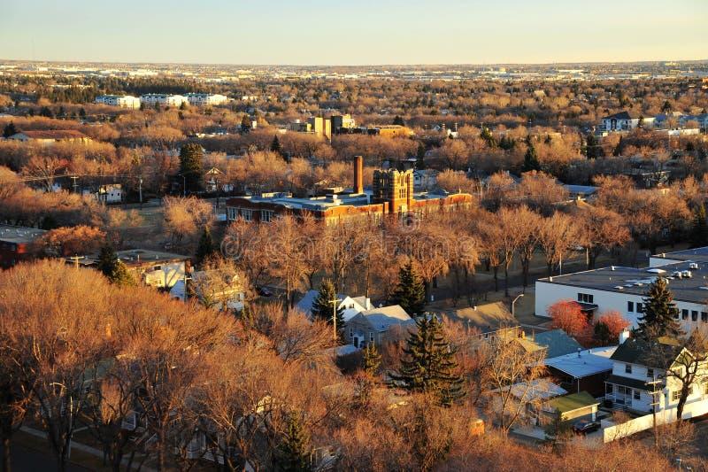 Paysage urbain d'Edmonton d'automne photo stock