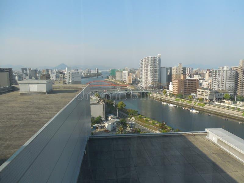 Paysage urbain d'Hiroshima image stock