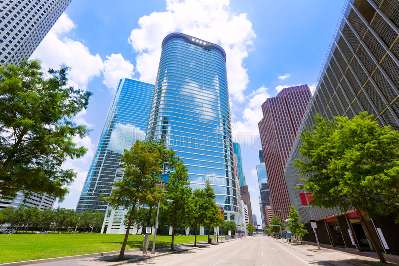 Paysage urbain d'horizon de Houston dans le Texas USA photo stock