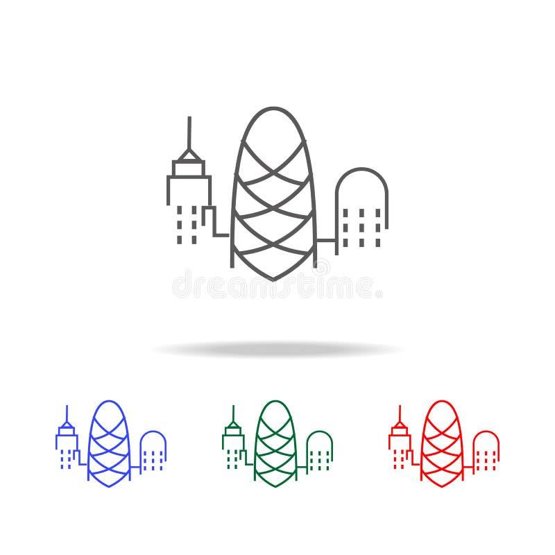 Paysage urbain d'icône de Londres Éléments des icônes colorées multi du Royaume-Uni Icône de la meilleure qualité de conception g illustration de vecteur