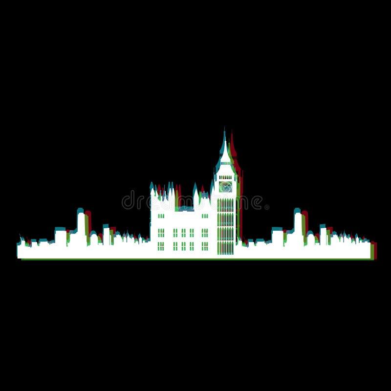 Paysage urbain d'isolement de Londres illustration libre de droits