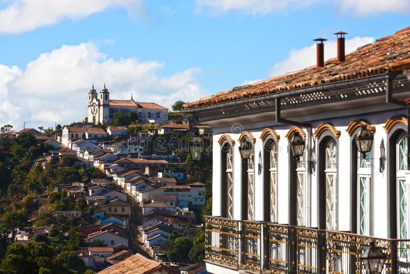 Paysage urbain d'Ouro Preto image libre de droits