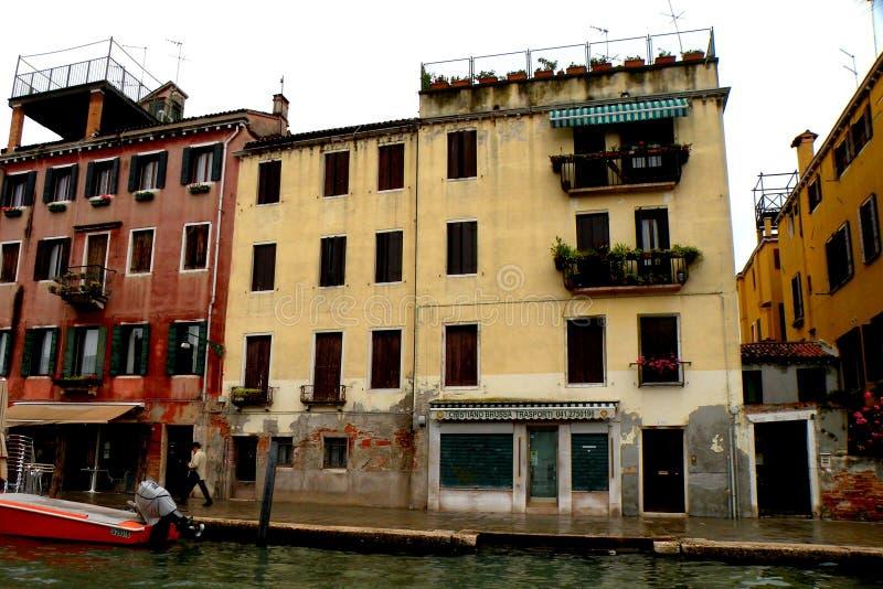 Paysage urbain dans Murano, Italie, dans un jour pluvieux images stock