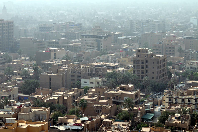 Paysage urbain de Bagdad photographie stock