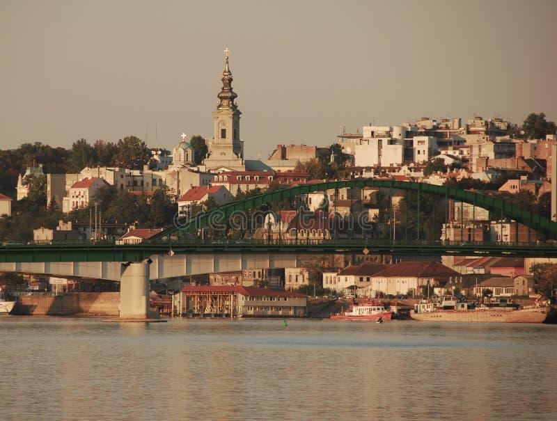 Paysage urbain de Belgrade images libres de droits