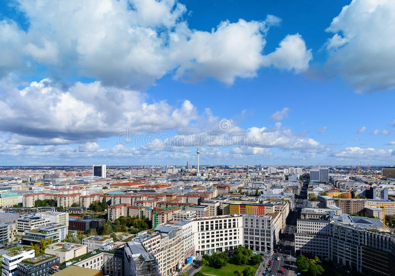 Paysage urbain de Berlin, Allemagne photos libres de droits