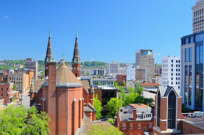 Paysage urbain de Birmingham images libres de droits