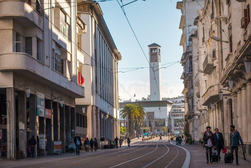 Paysage urbain de Casablanca - le Maroc images libres de droits