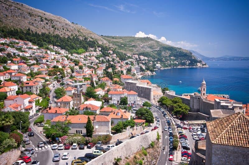 Paysage urbain de Dubrovnik photographie stock libre de droits