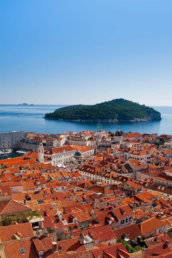 Paysage urbain de Dubrovnik photos stock