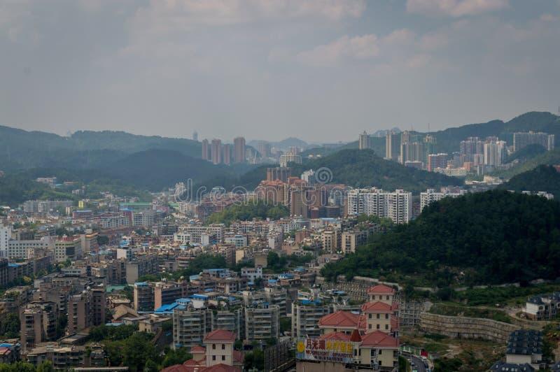 Paysage urbain de forêt de Guiyang 3 photographie stock libre de droits