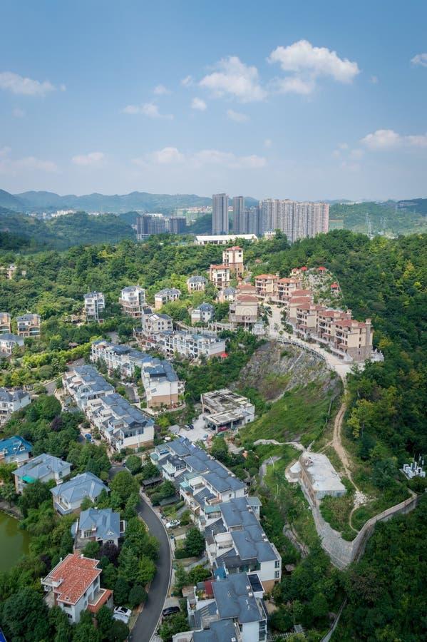 Paysage urbain de forêt de la ville 2 de Guiyang image libre de droits
