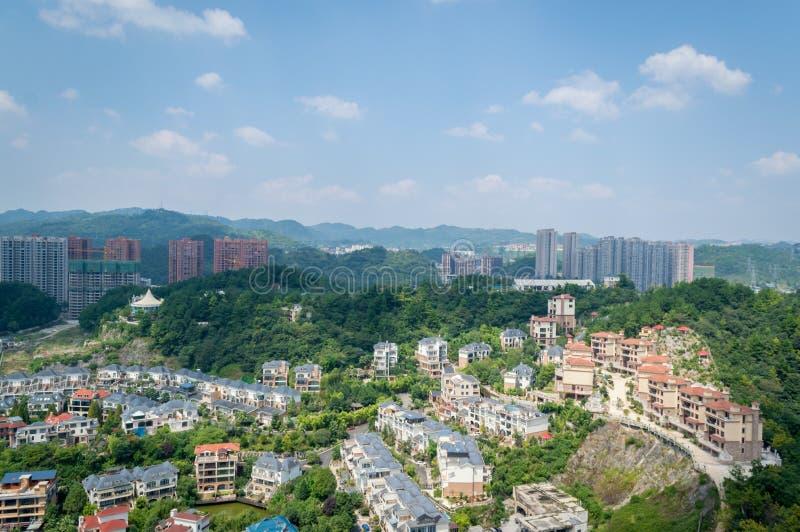 Paysage urbain de forêt de la ville 3 de Guiyang photographie stock