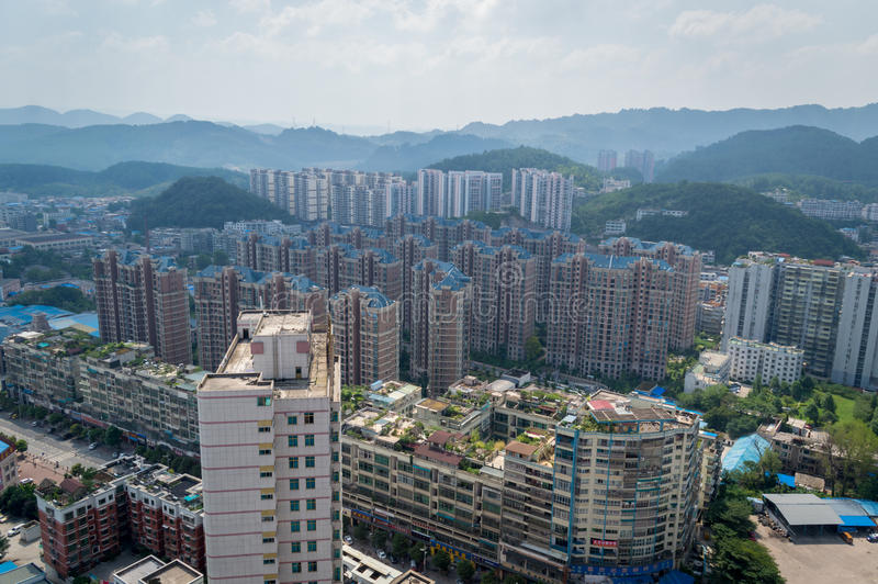 Paysage urbain de forêt de la ville 6 de Guiyang photo libre de droits