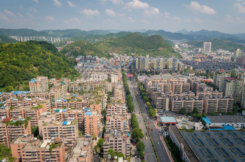 Paysage urbain de forêt de la ville 7 de Guiyang photos stock