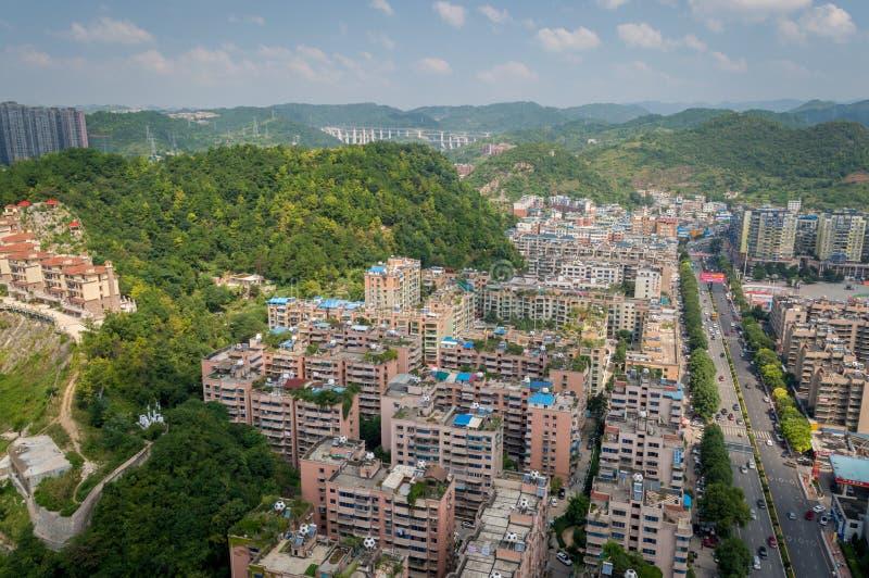 Paysage urbain de forêt de la ville 8 de Guiyang image stock