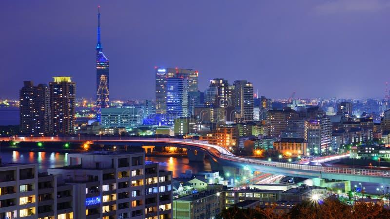Paysage urbain de Fukuoka images stock