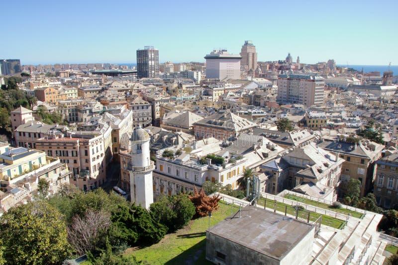 Paysage urbain de Gênes photos libres de droits