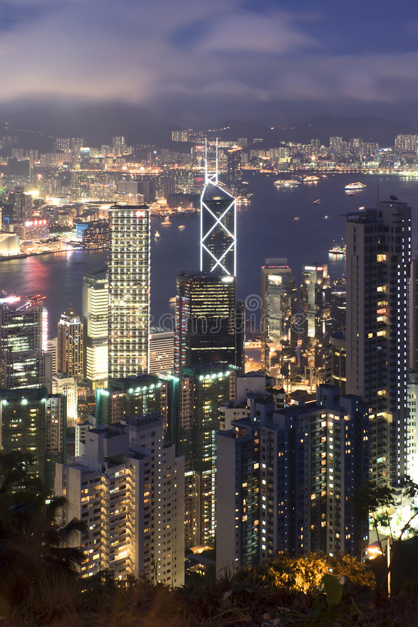 Paysage urbain de Hong Kong images libres de droits