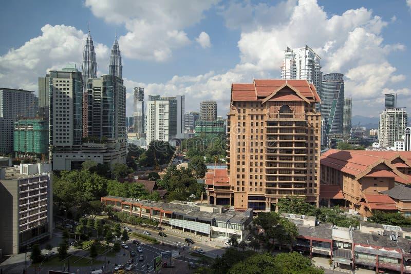 Paysage urbain de journée de Kuala Lumpur photo stock