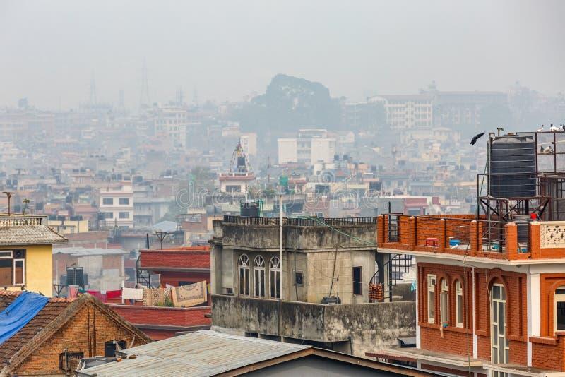 Paysage urbain de Katmandou image libre de droits
