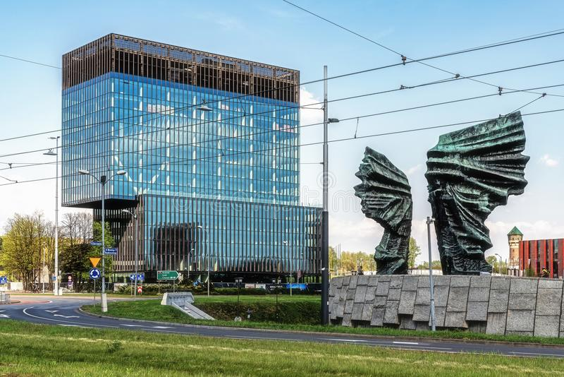 Paysage urbain de Katowice image stock