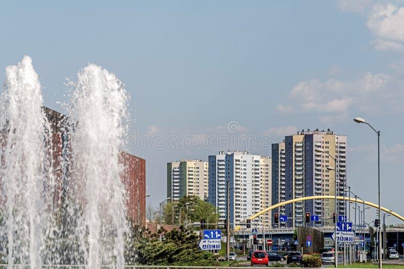 Paysage urbain de Katowice images stock
