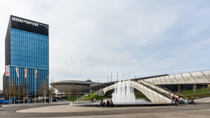 Paysage urbain de Katowice photo libre de droits