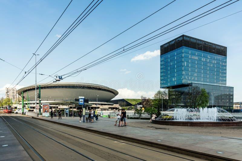 Paysage urbain de Katowice images libres de droits