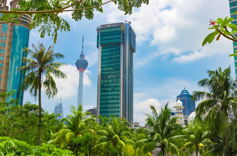 Paysage urbain de Kuala Lumpur photos stock