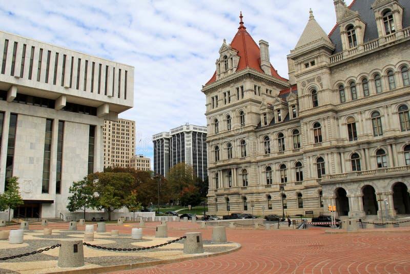 Paysage urbain de l'architecture d'Albany, New York, 2015 images libres de droits