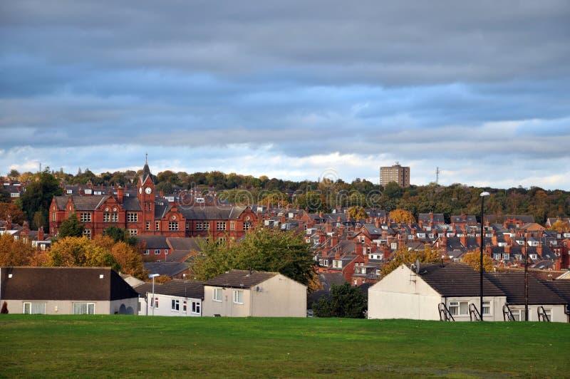 Paysage urbain de la région de woodhouse de Leeds dans Yorkshire Angleterre photo libre de droits