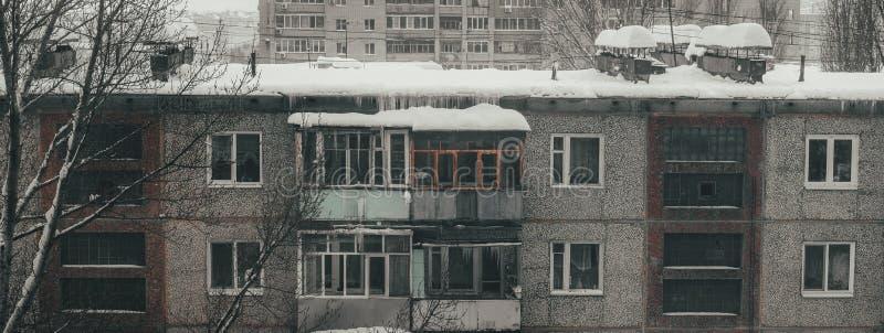 Paysage urbain de la vieille ville en Russie La vie des Russes ordinaires images libres de droits