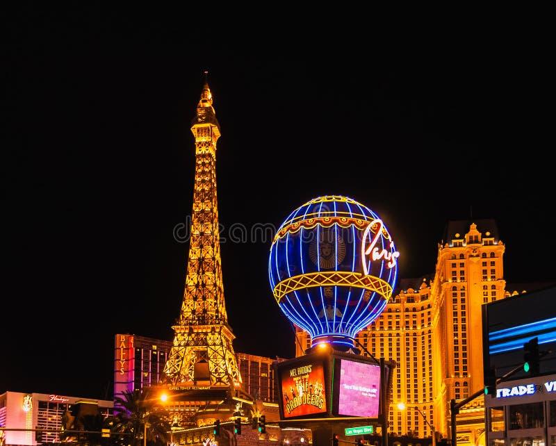 Paysage urbain de Las Vegas par nuit images libres de droits