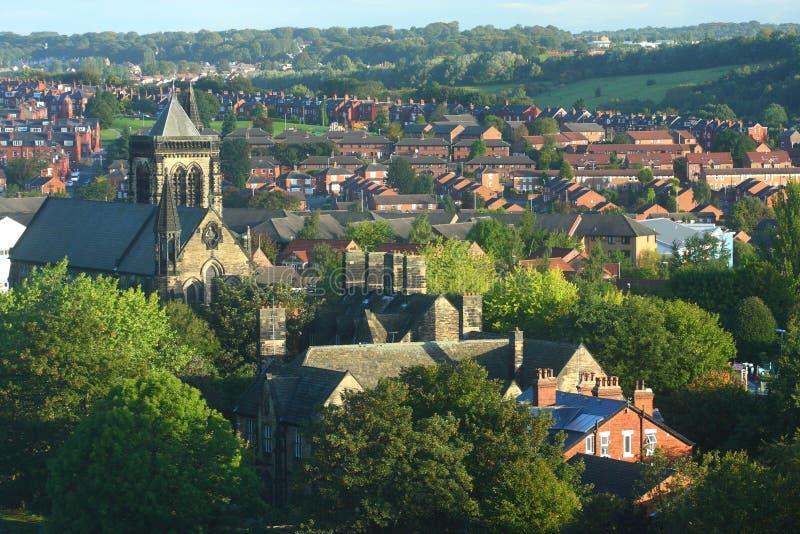 Paysage urbain de Leeds images libres de droits